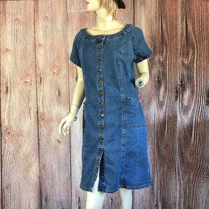 Vintage Denim Jean Dress Size 12